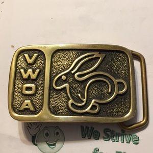 Volkswagen belt buckle solid brass
